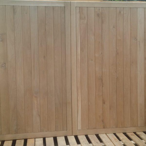 European Oak Garage Doors
