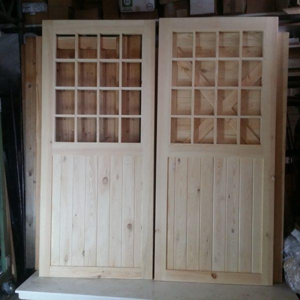 Traditional 16 Pane Glass Timber Garage Doors
