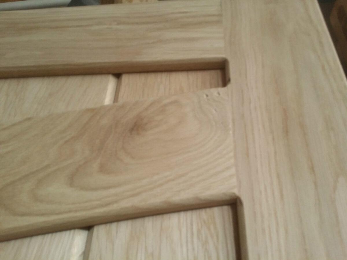 Arch Side Hung Solid Oak Garage Doors