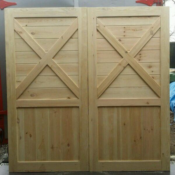 Cross Brace Wooden Timber Garage Doors