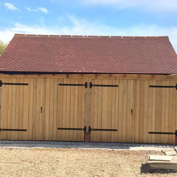 Side Hung Solid Oak Garage Doors