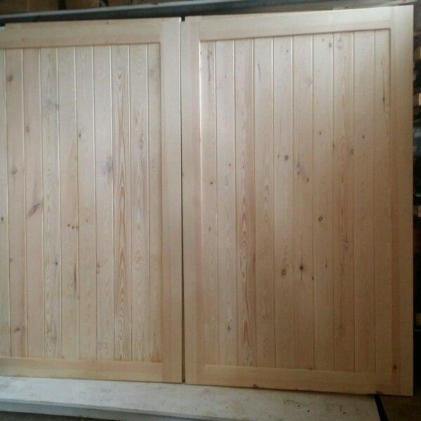 Frame Straight integrated panels Wooden Garage Doors