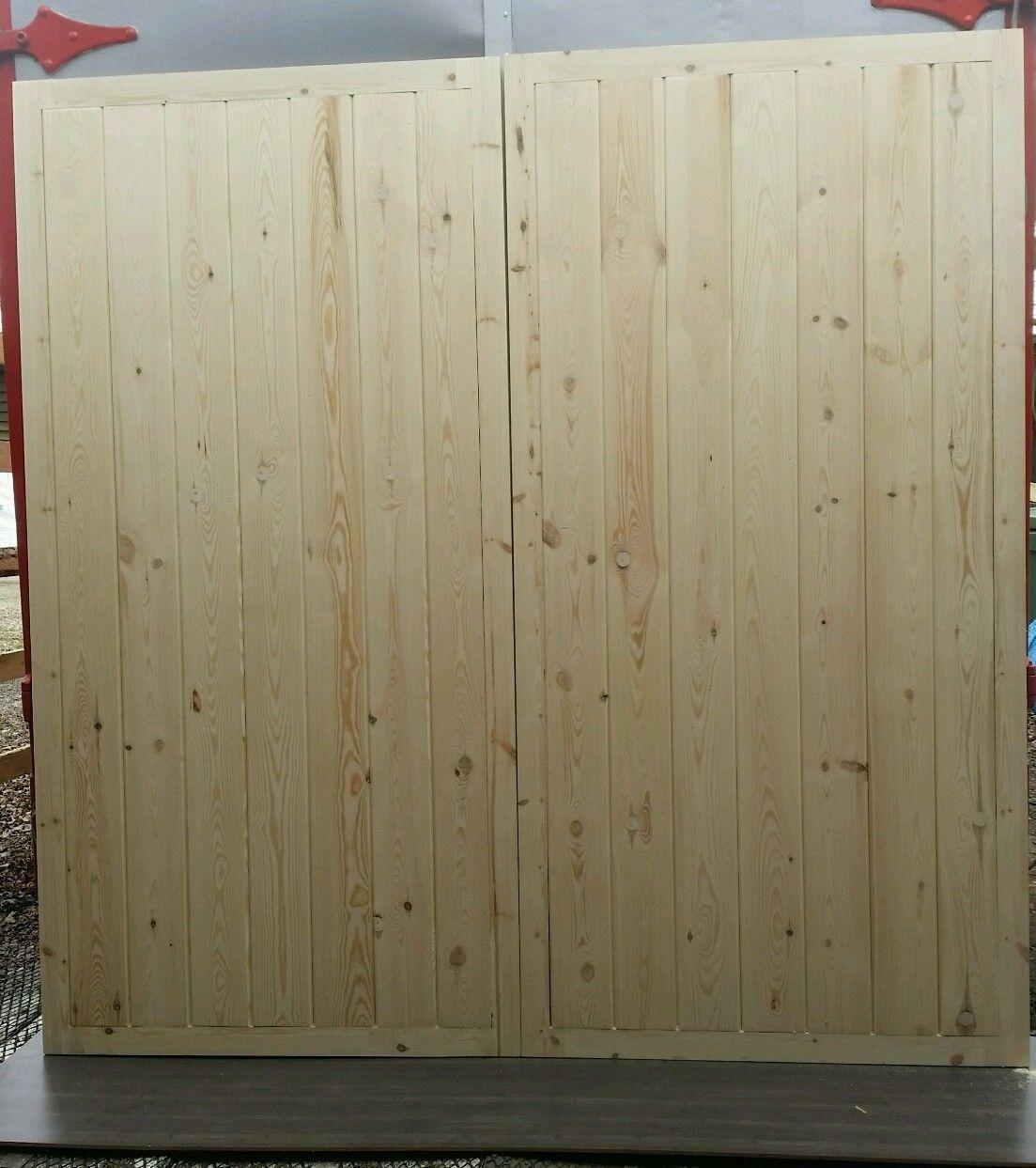 Straight Panels Wooden Timber Garage Doors