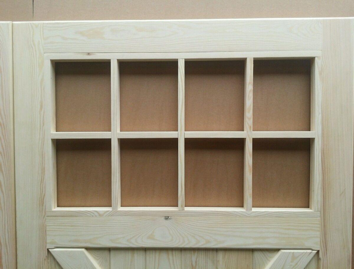 Timber Garage Doors with Windows Cross Brace