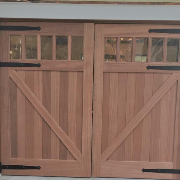 V Brace Cedar Garage Doors