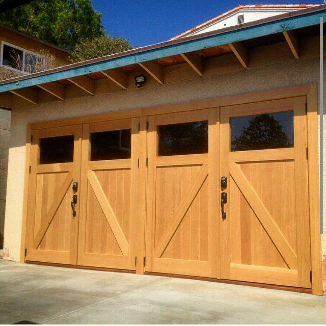 Timber Solid Oak Garage Doors See Through Glass