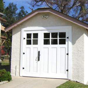 Traditional Timber wooden Garage Doors  Split 70/30 Glass 10 Pane